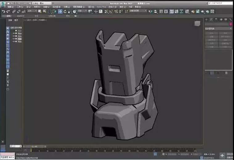 次世代游戏模型《重机甲战士》制作全流程之学员作品制作流程