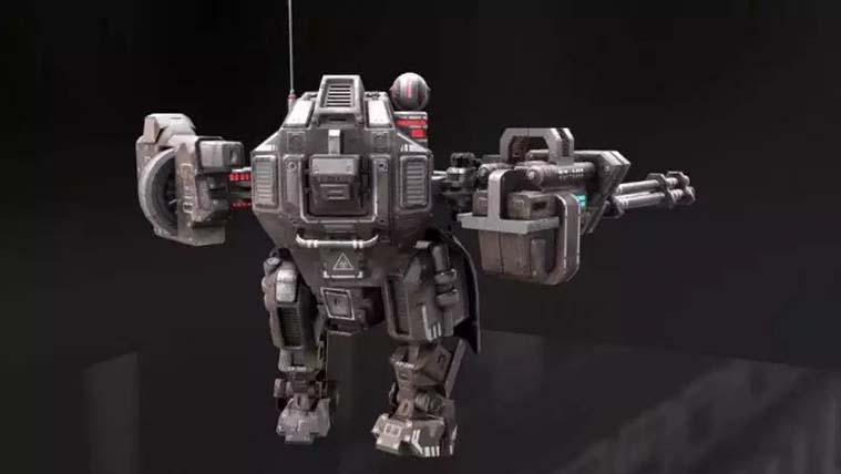 次世代游戏模型《重机甲战士》制作全流程之学员作品